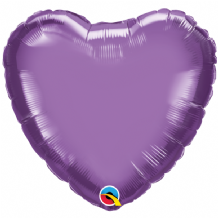 "Purple Chrome Foil Balloon (18"" Heart) 1pc"